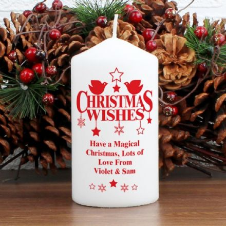 Personalised Christmas Wishes Candle